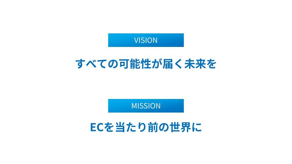 2 VISION ECを当たり前の世界に MISSION すべての可能性が届く未来を