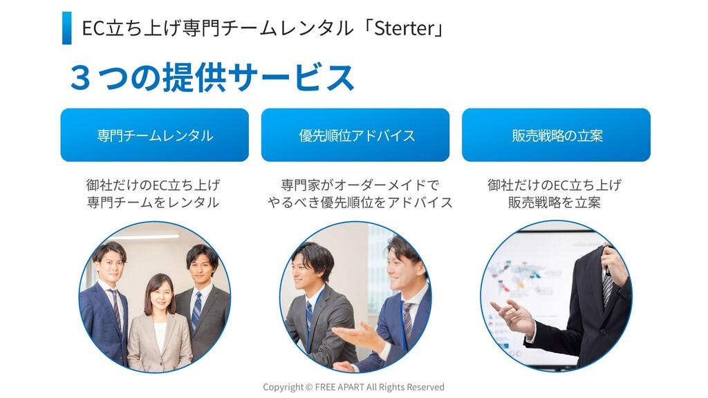 5 3つの提供サービス 専門チームレンタル 優先順位アドバイス 販売戦略の立案 御社だけのEC...