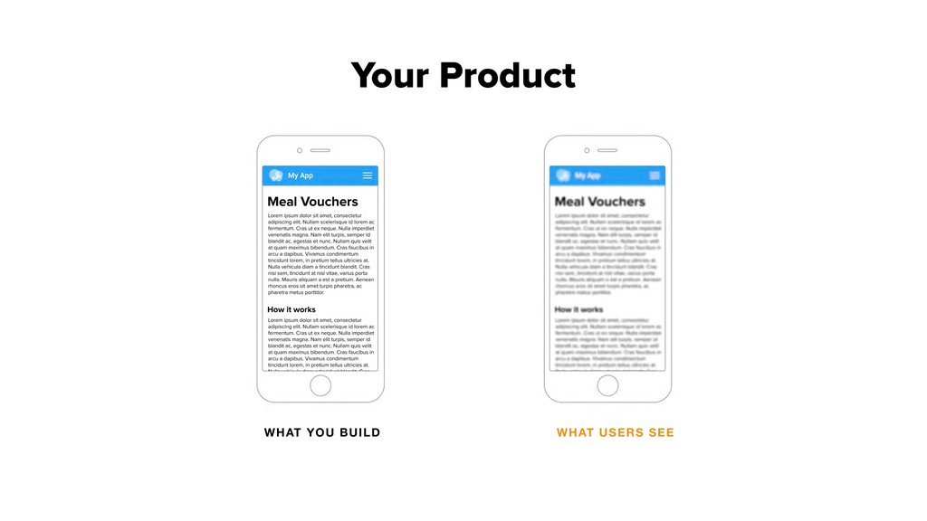 WHAT YOU BUILD WHAT USERS SEE Your Product
