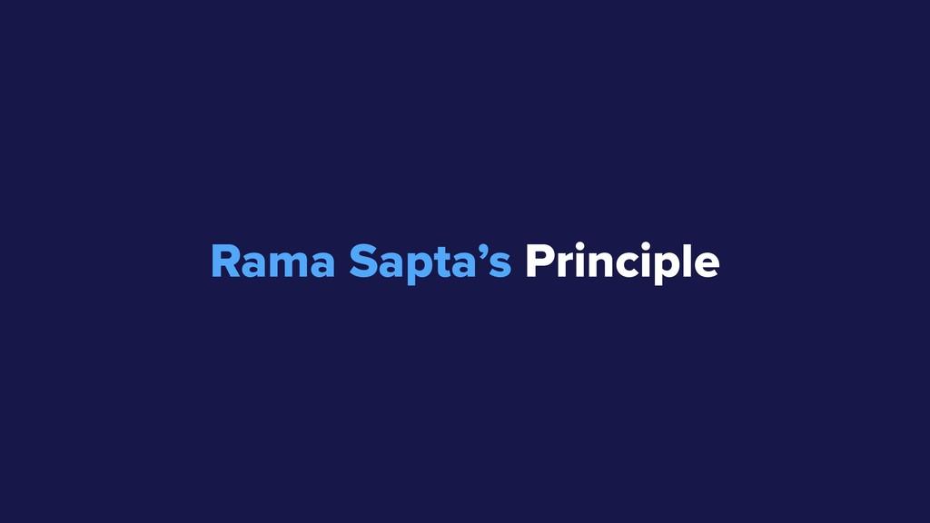 Rama Sapta's Principle 80-20 Rule 95-5 Rule :D