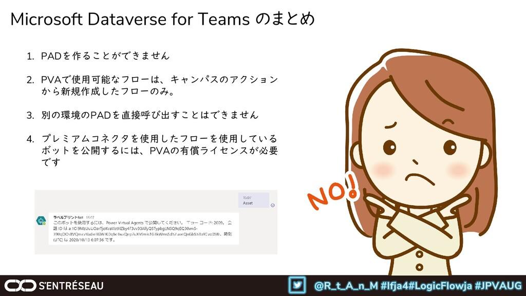 Microsoft Dataverse for Teams のまとめ 1. PADを作ることが...