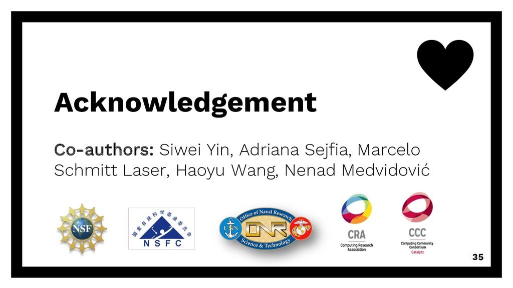 Acknowledgement Co-authors: Siwei Yin, Adriana ...