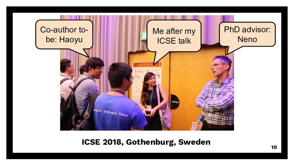 ICSE 2018, Gothenburg, Sweden 10 Co-author to- ...