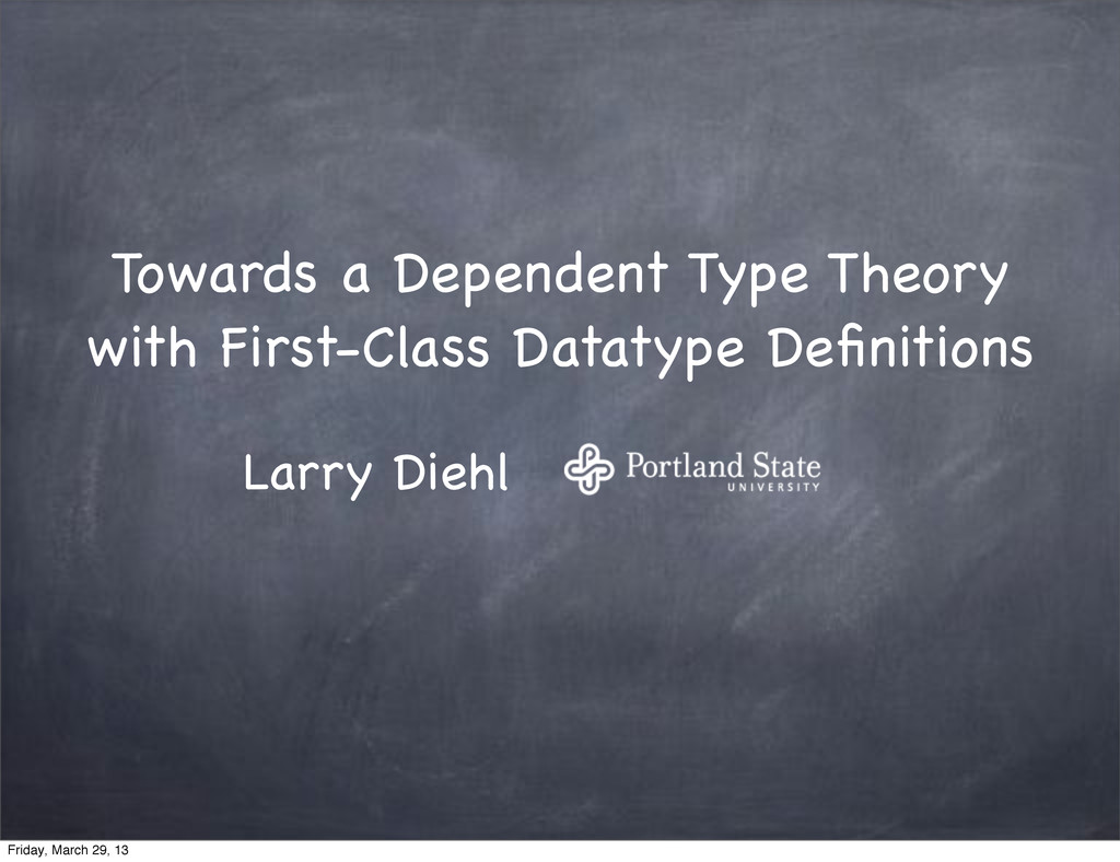 Towards a Dependent Type Theory with First-Clas...