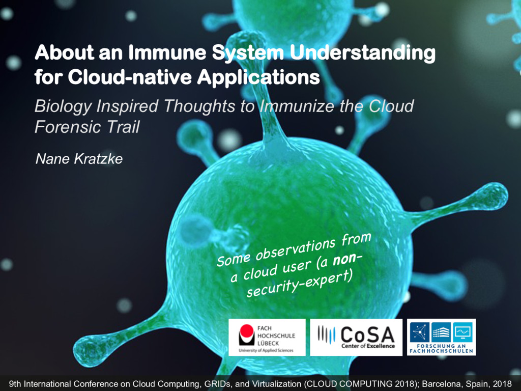 About an Immune System Understanding for Cloud-...
