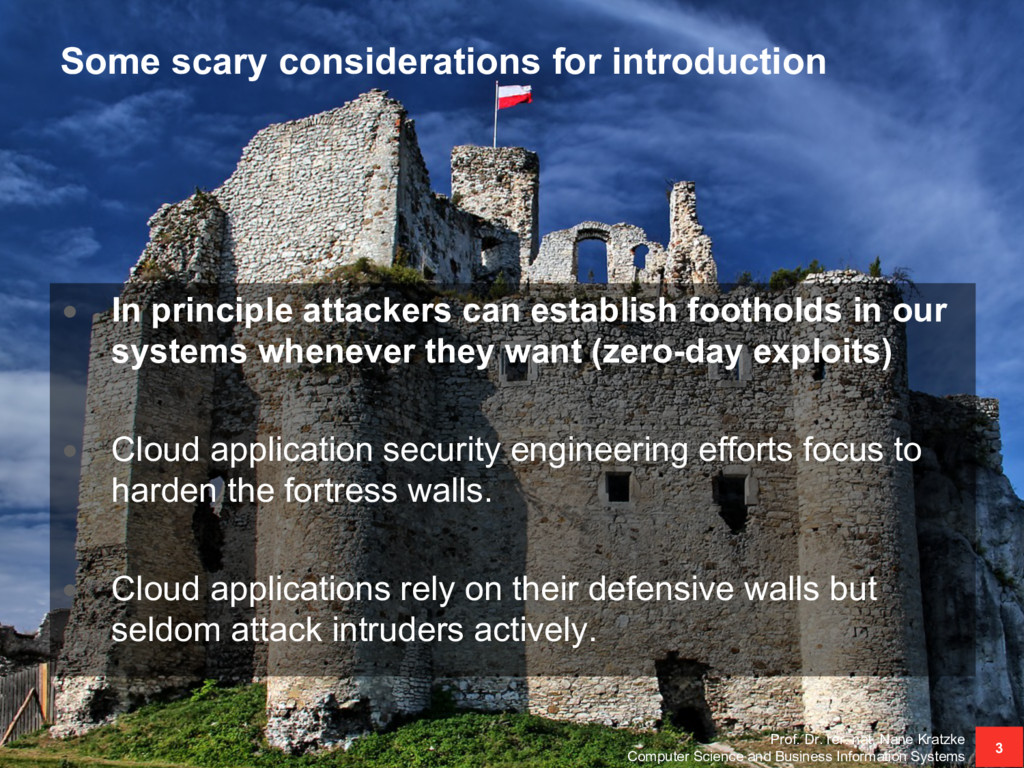 Some scary considerations for introduction • In...