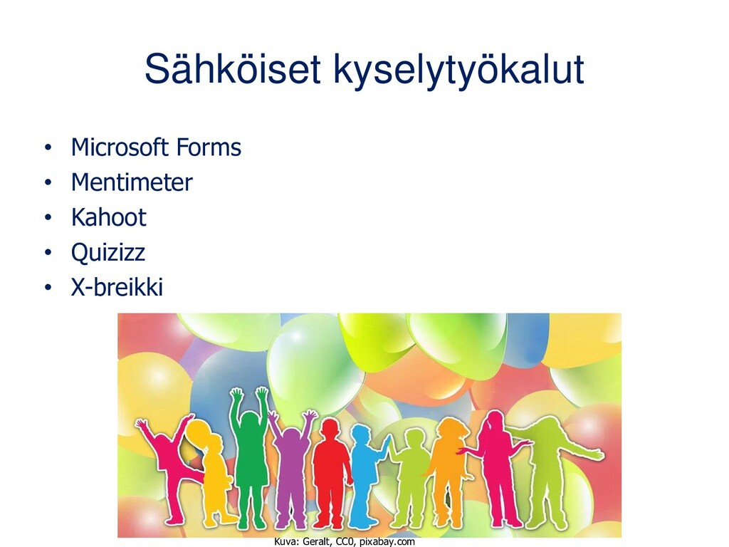 Sähköiset kyselytyökalut • Microsoft Forms • Me...
