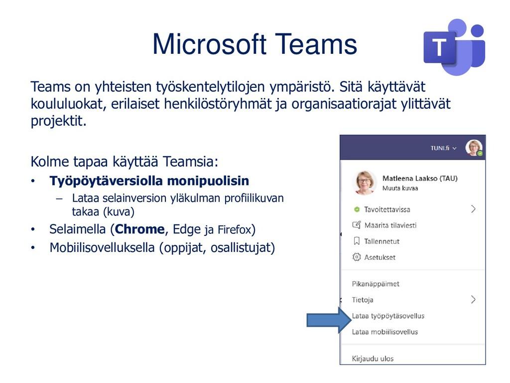 Microsoft Teams Teams on yhteisten työskentelyt...