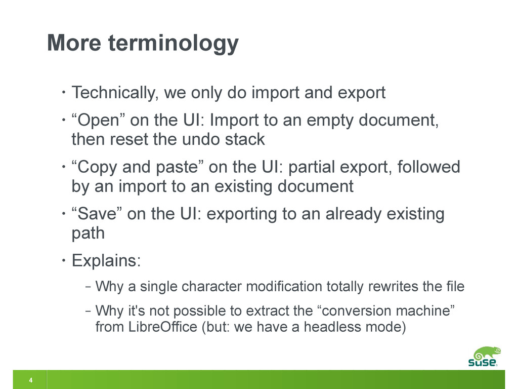 4 More terminology • Technically, we only do im...