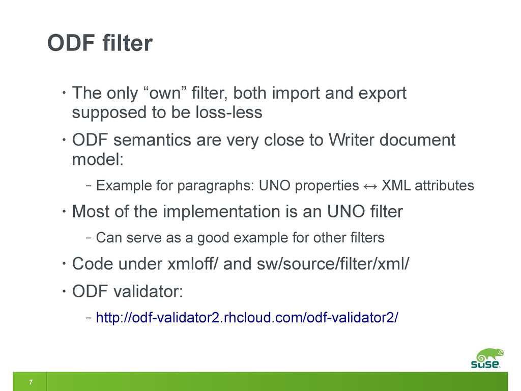 "7 ODF filter • The only ""own"" filter, both impo..."