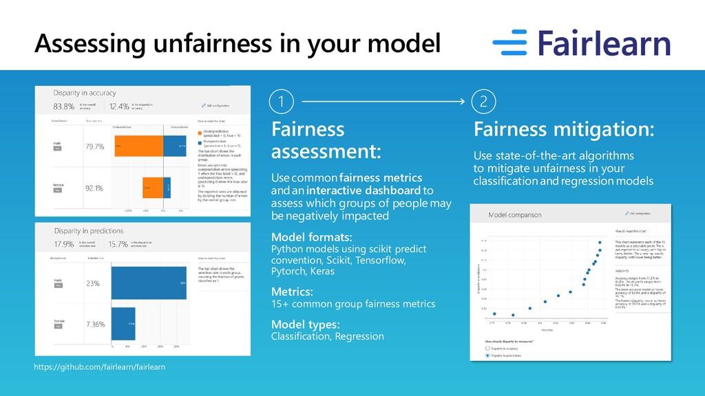 Assessing unfairness in your model https://gith...