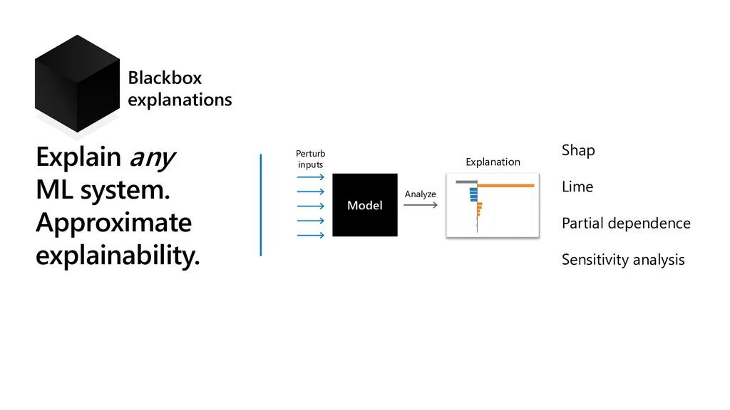 Explain any ML system. Approximate explainabili...