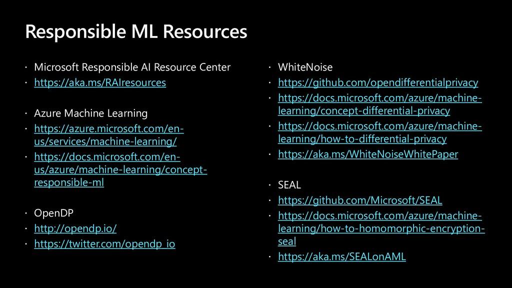 Responsible ML Resources  Microsoft Responsibl...