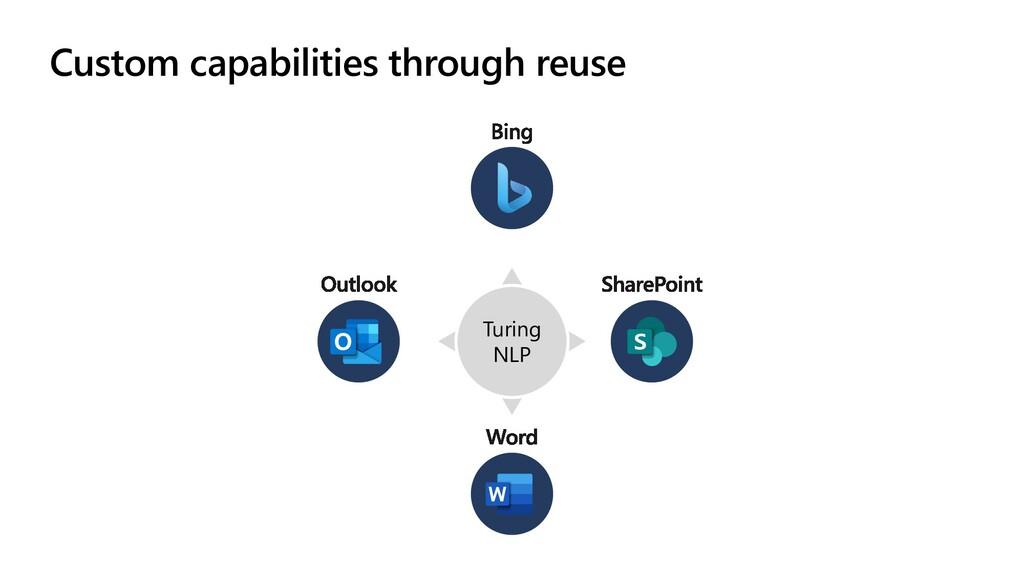 Custom capabilities through reuse Turing NLP