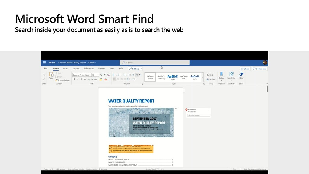 Microsoft Word Smart Find Search inside your do...