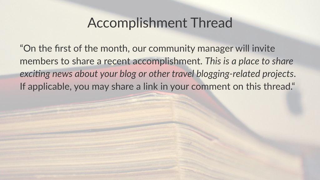 """Accomplishment-Thread """"On$the$first$of$the$month..."""