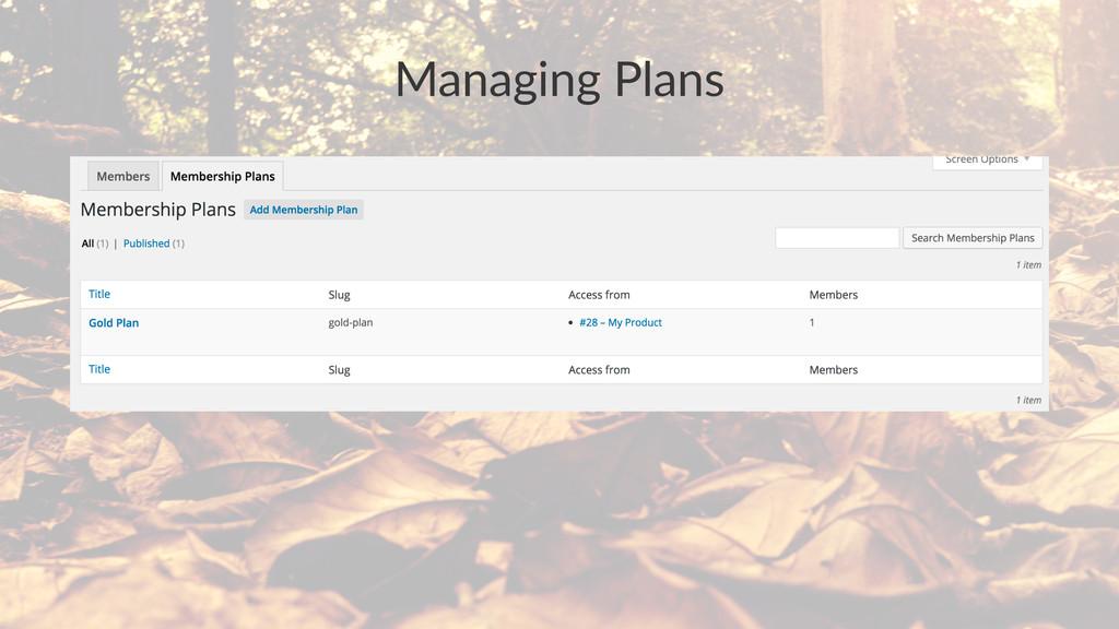Managing&Plans
