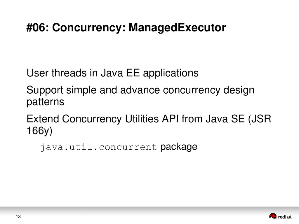 13 #06: Concurrency: ManagedExecutor User threa...