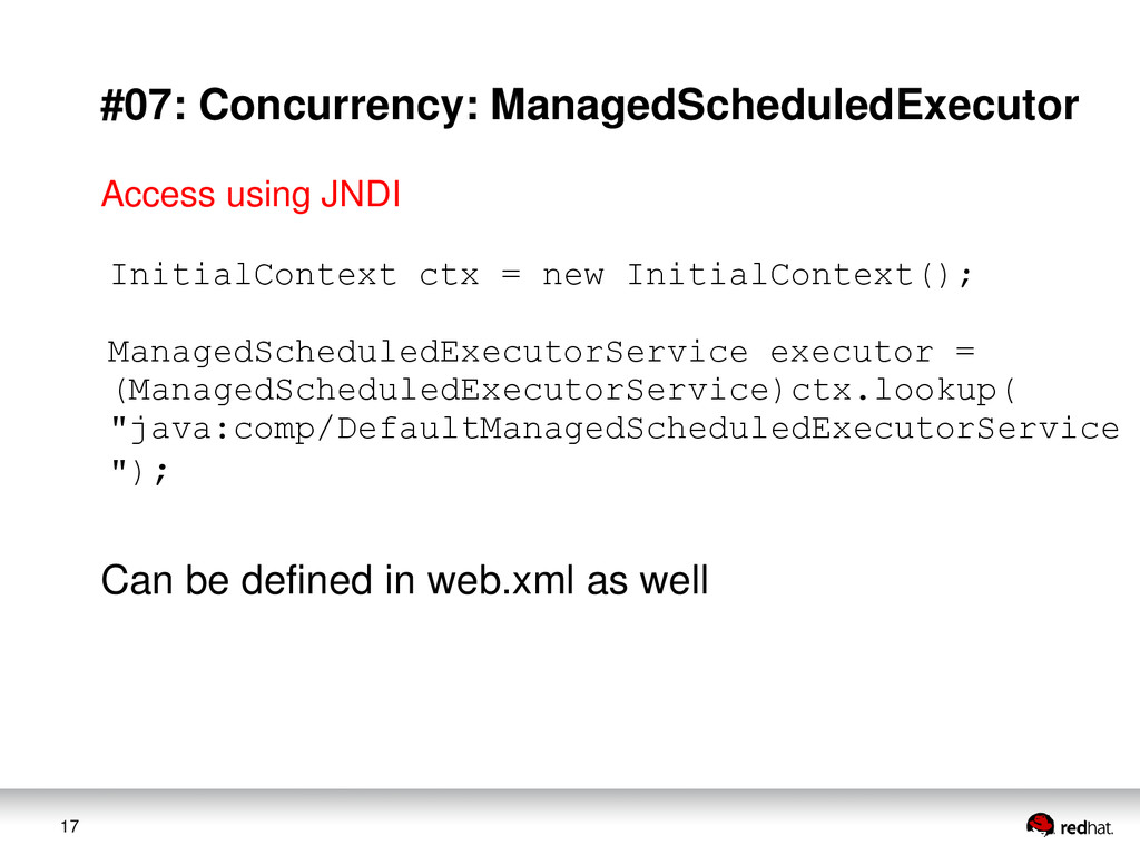 17 #07: Concurrency: ManagedScheduledExecutor I...