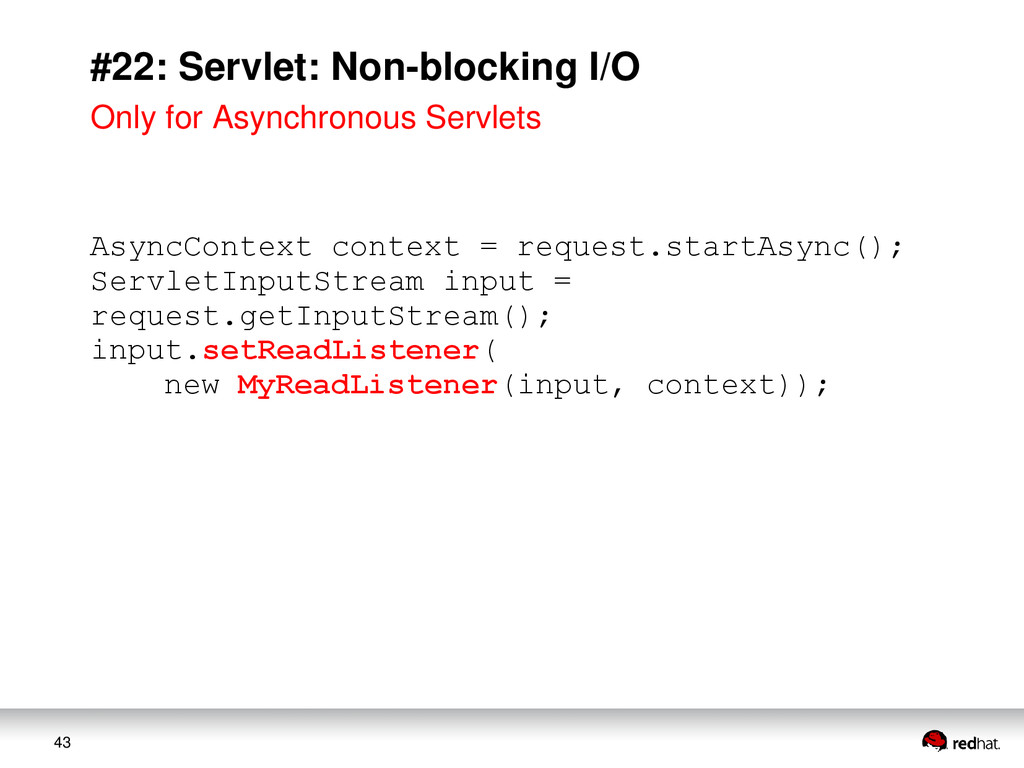 43 #22: Servlet: Non-blocking I/O AsyncContext ...