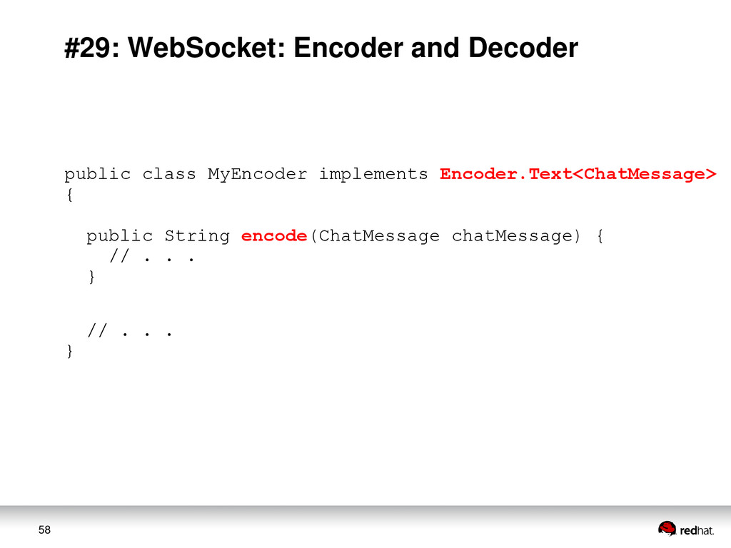 58 #29: WebSocket: Encoder and Decoder public c...