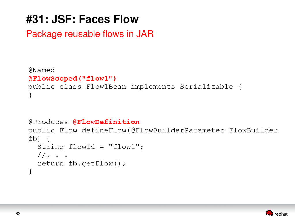"63 #31: JSF: Faces Flow @Named @FlowScoped(""flo..."
