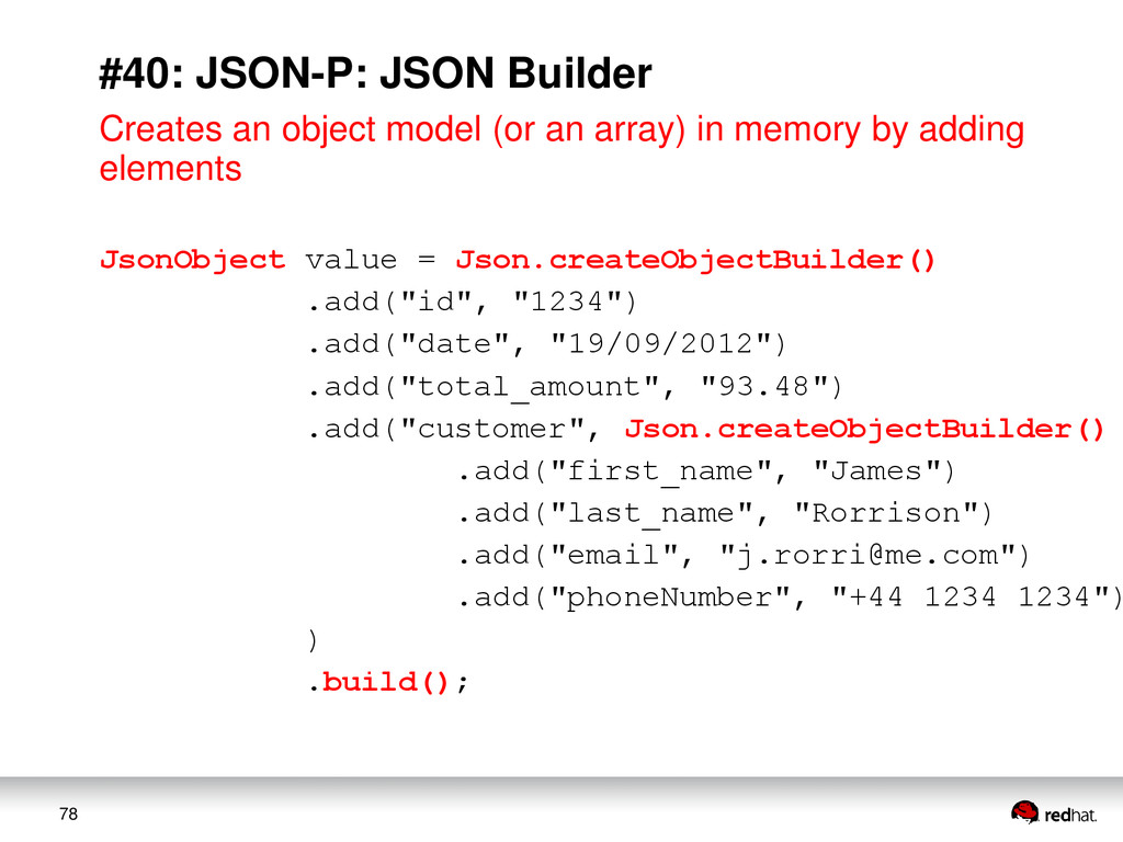 78 #40: JSON-P: JSON Builder Creates an object ...