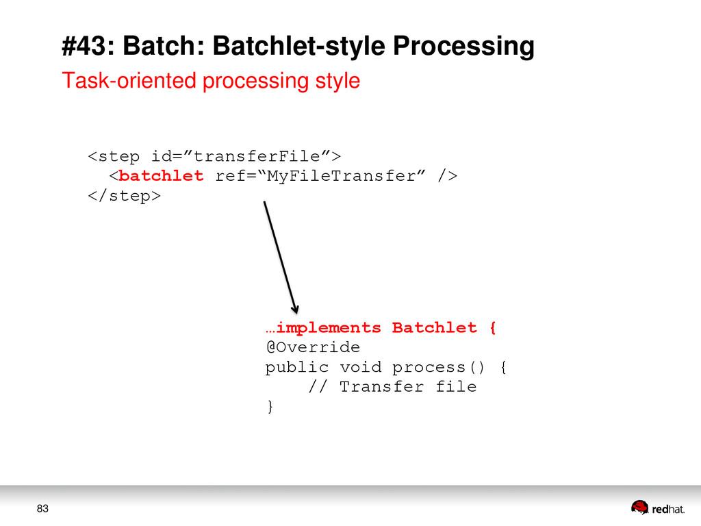 83 #43: Batch: Batchlet-style Processing Task-o...