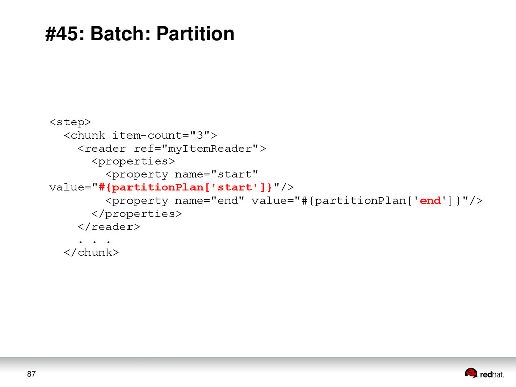 87 #45: Batch: Partition <step> <chunk item-cou...