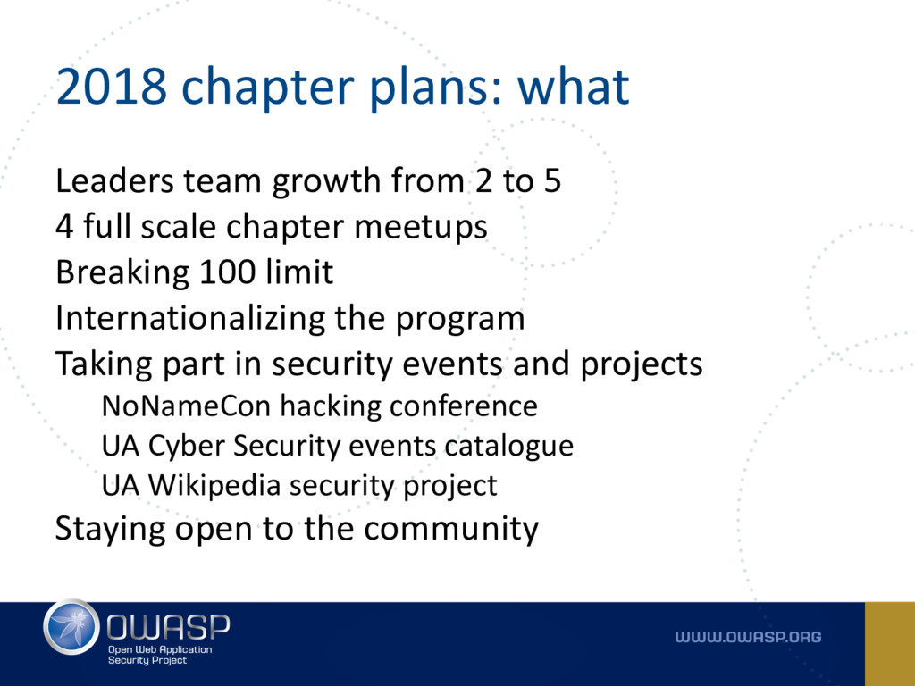 2018 chapter plans: what Leaders team growth fr...