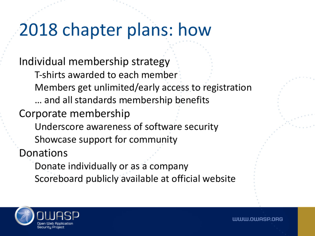 2018 chapter plans: how Individual membership s...