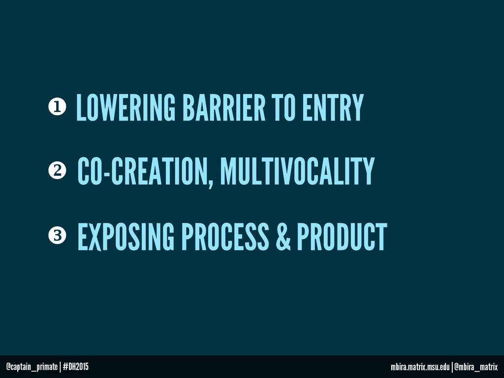 u LOWERING BARRIER TO ENTRY v CO-CREATION, MU...