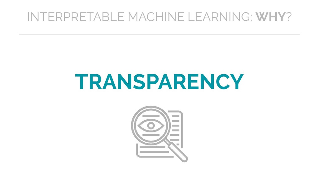 TRANSPARENCY INTERPRETABLE MACHINE LEARNING: WH...