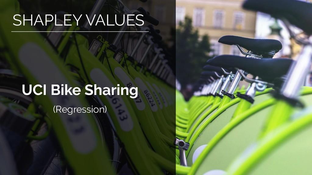 UCI Bike Sharing (Regression) SHAPLEY VALUES