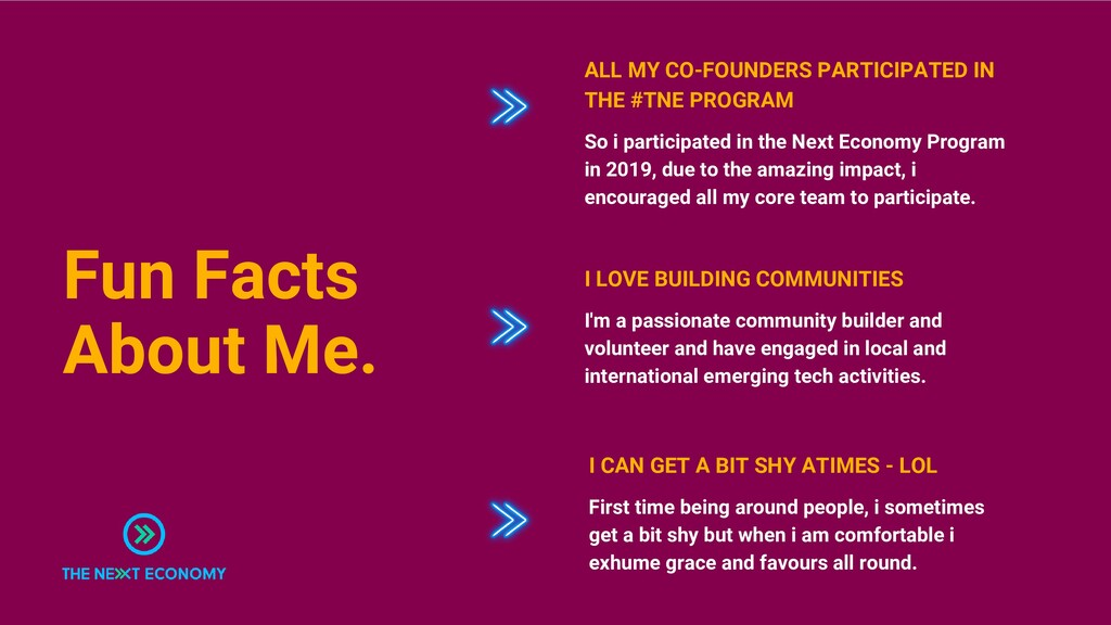 Fun Facts About Me. So i participated in the Ne...