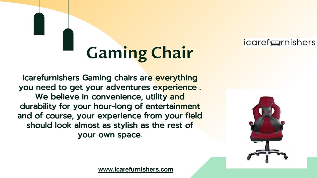 Gaming Chair icarefurnishers Gaming chairs are ...