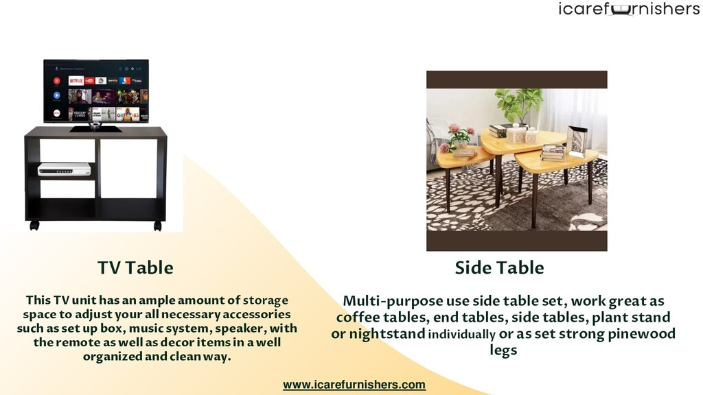 Multi-purpose use side table set, work great as...