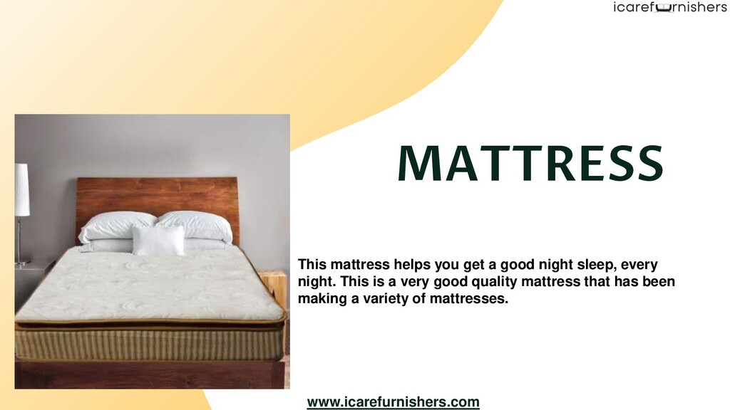 This mattress helps you get a good night sleep,...