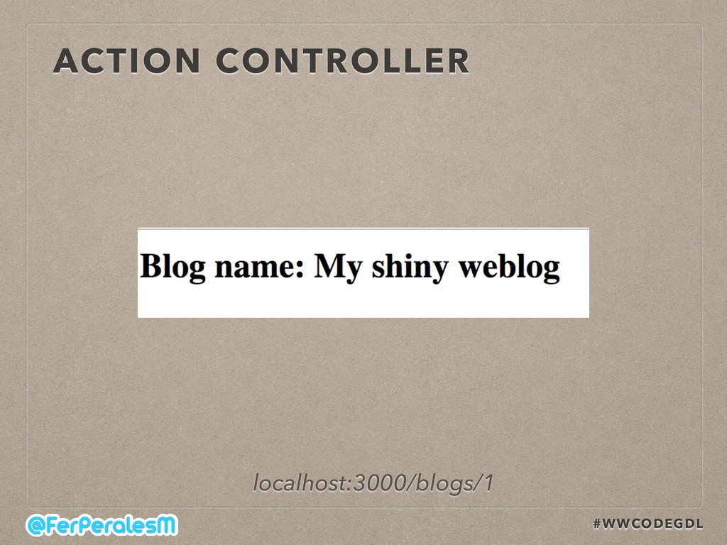 #WWCODEGDL ACTION CONTROLLER localhost:3000/blo...