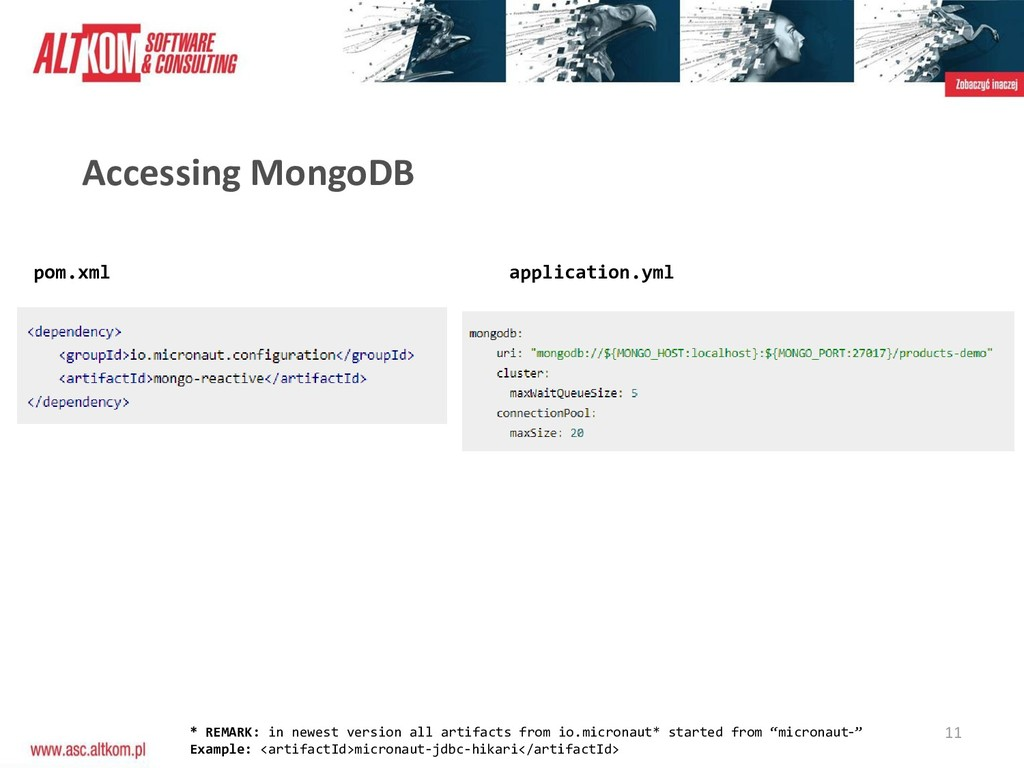 11 Accessing MongoDB pom.xml application.yml * ...