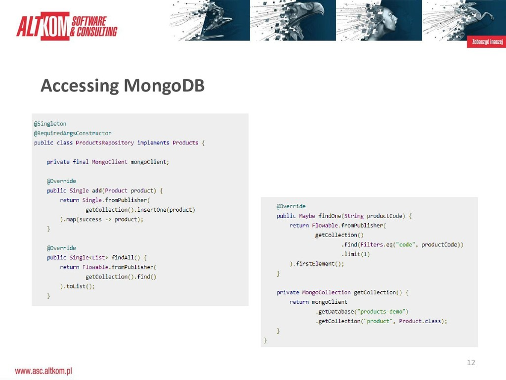 12 Accessing MongoDB