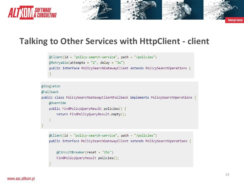 19 Talking to Other Services with HttpClient - ...