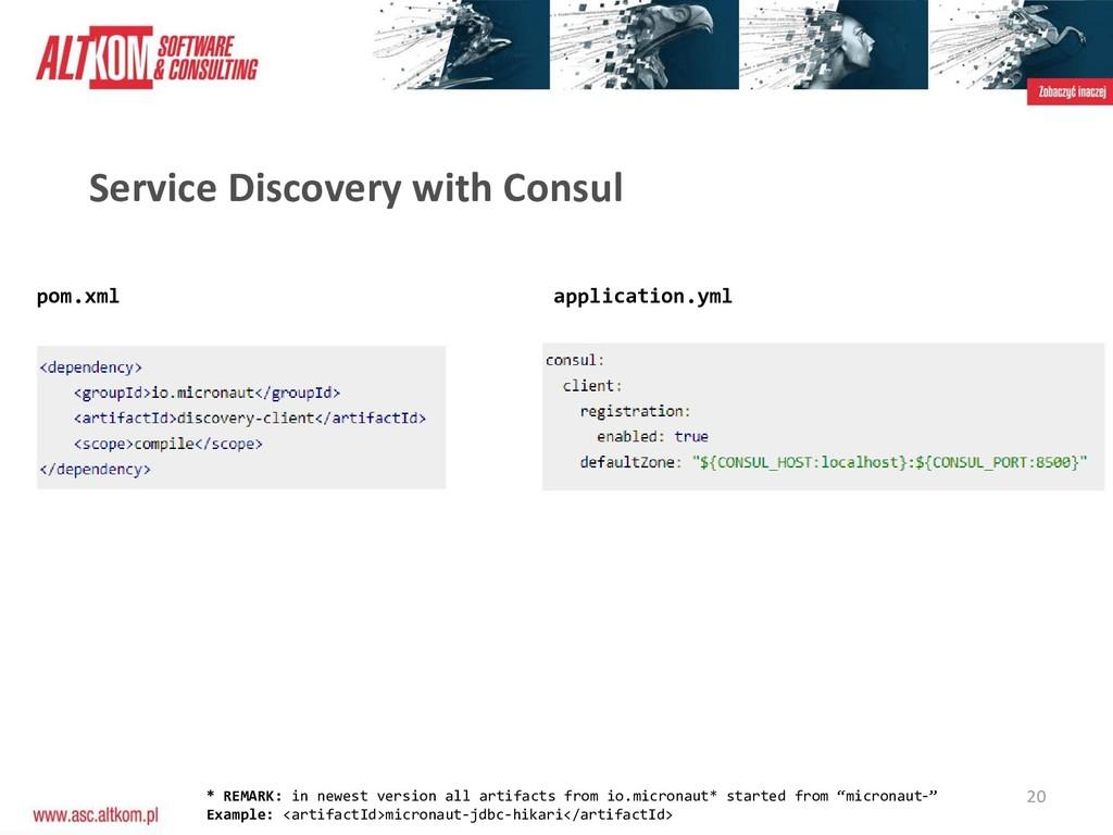 20 Service Discovery with Consul pom.xml applic...