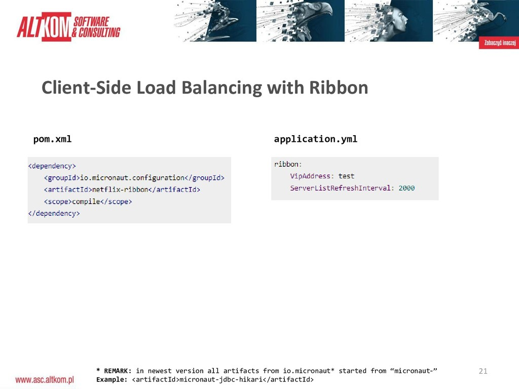 21 Client-Side Load Balancing with Ribbon pom.x...