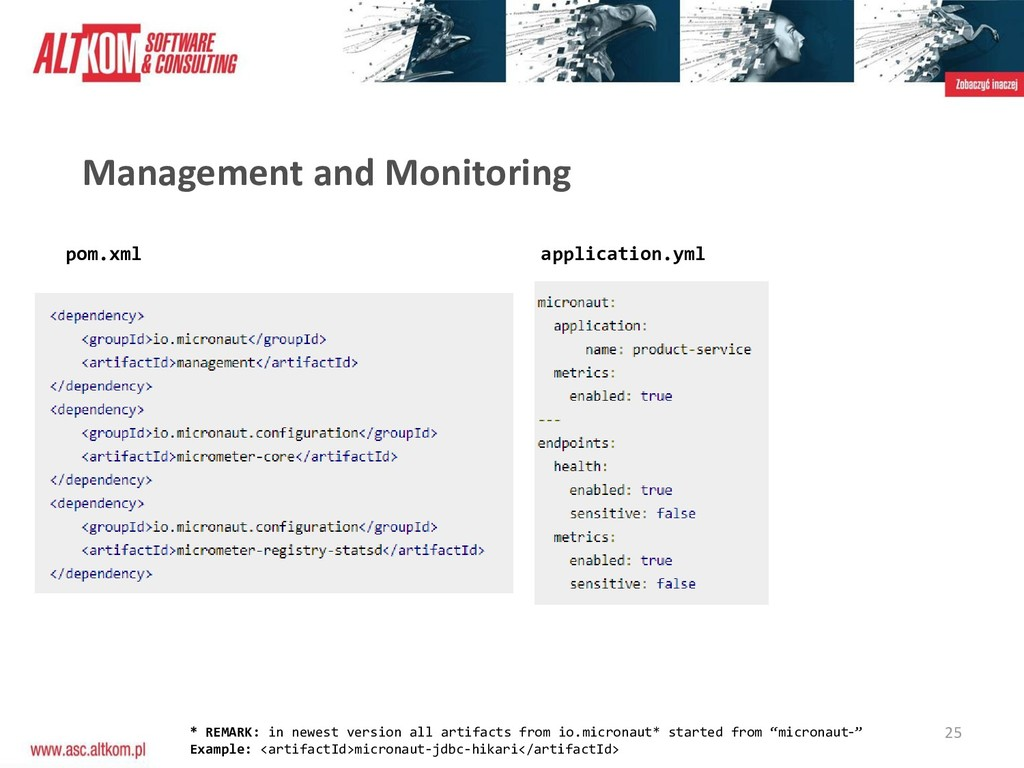 25 Management and Monitoring pom.xml applicatio...
