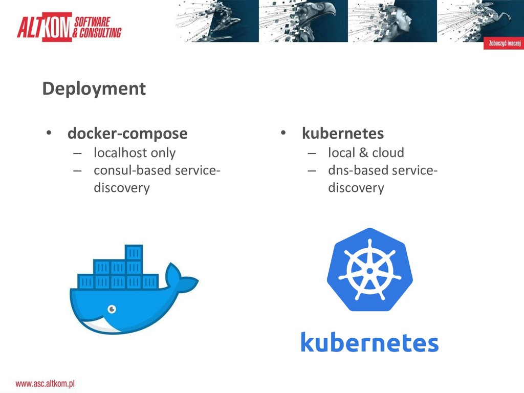 Deployment • docker-compose – localhost only – ...