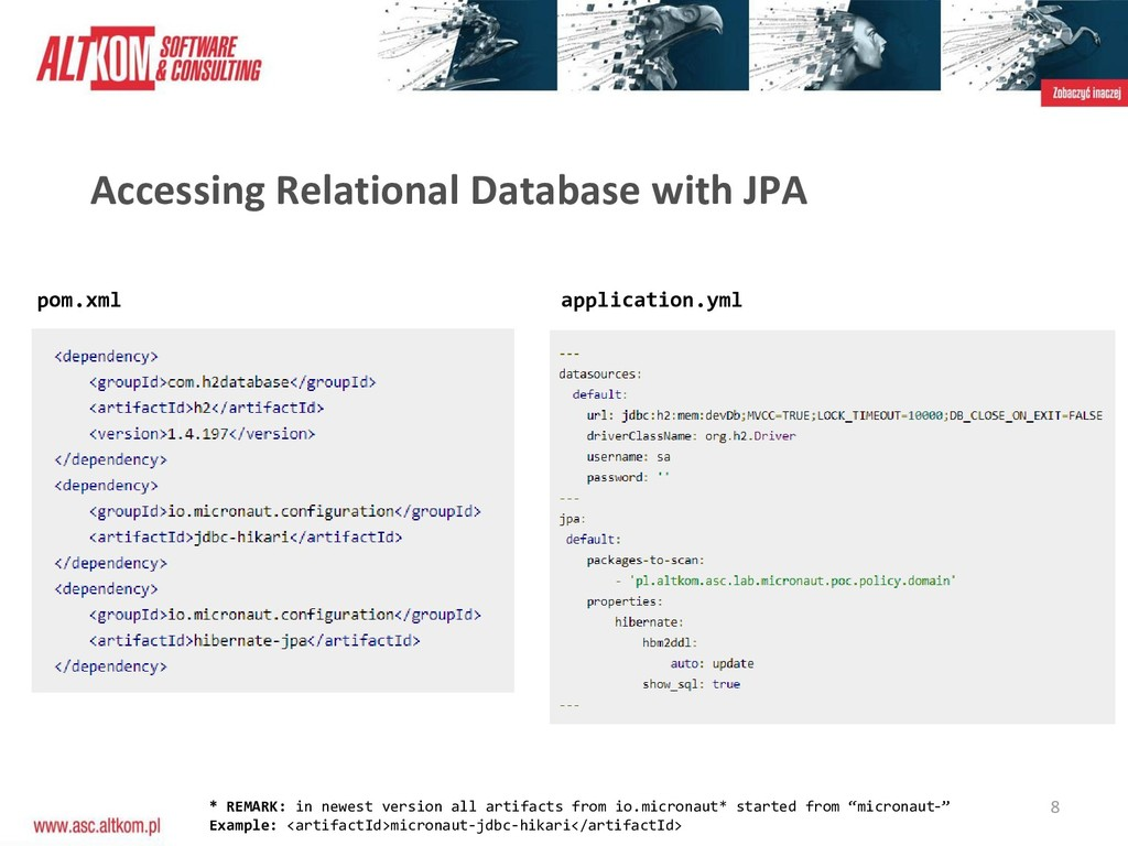 8 Accessing Relational Database with JPA pom.xm...