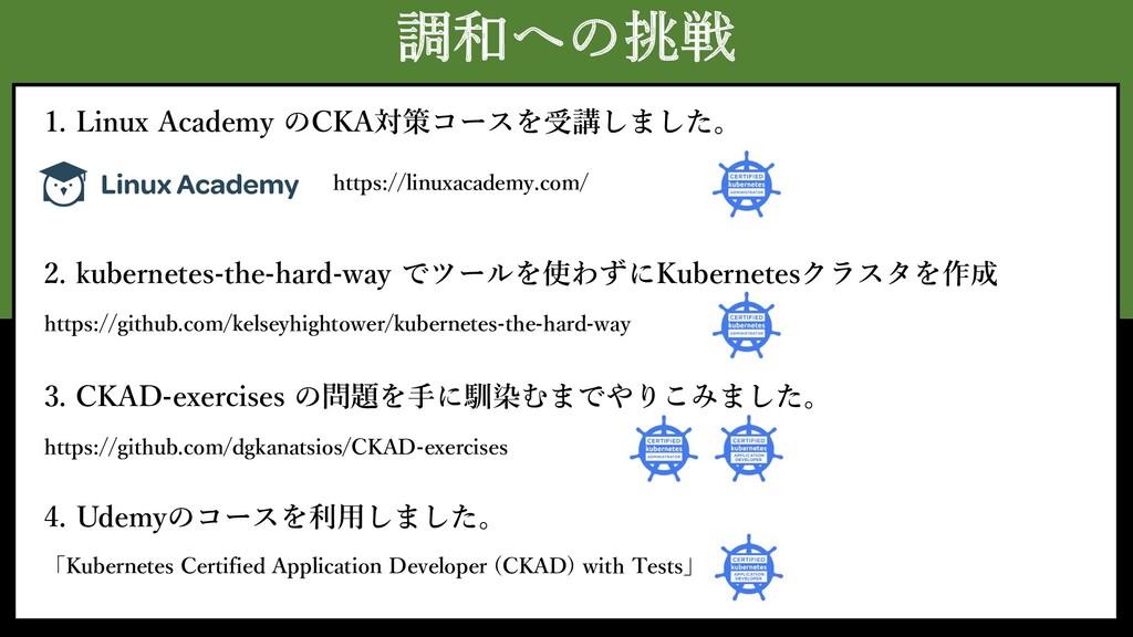 調和への挑戦 https://linuxacademy.com/ 1. Linux Acade...