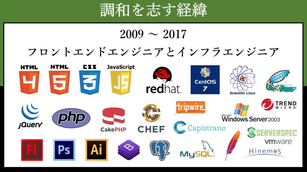 調和を志す経緯 2009 〜 2017 フロントエンドエンジニアとインフラエンジニア