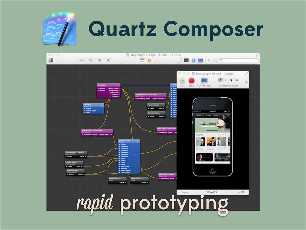 rapid prototyping Quartz Composer